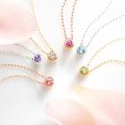 4℃のブライダルフェア!誕生石&ダイヤモンドネックレスをプレゼント中