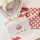 結婚式の席札カードを無料プレゼント!ゲストの印象に残る花個紋の「席札手ぬぐい」